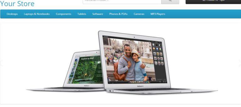 cara membuat home page slideshow opencart